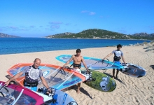 Windsurfing in Sardinia (Porto Pollo), Italy