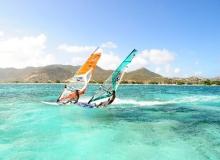Windsurfing in St Martin, Dutch Antilles